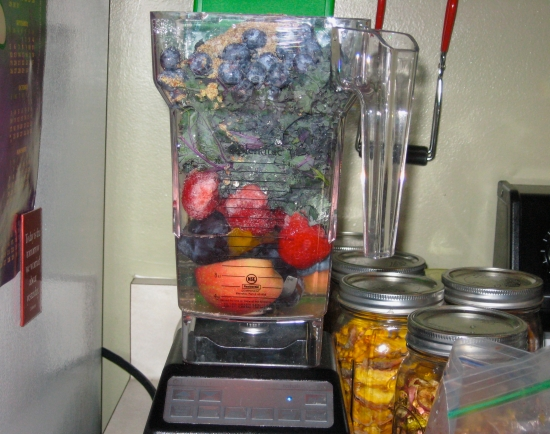 Photo of blender with fruit