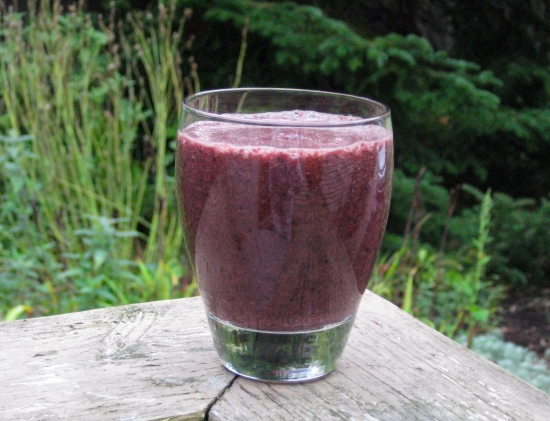 Photo of purple kale smoothie