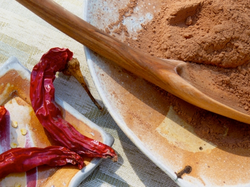 Raw Cacao with Chile Peppers