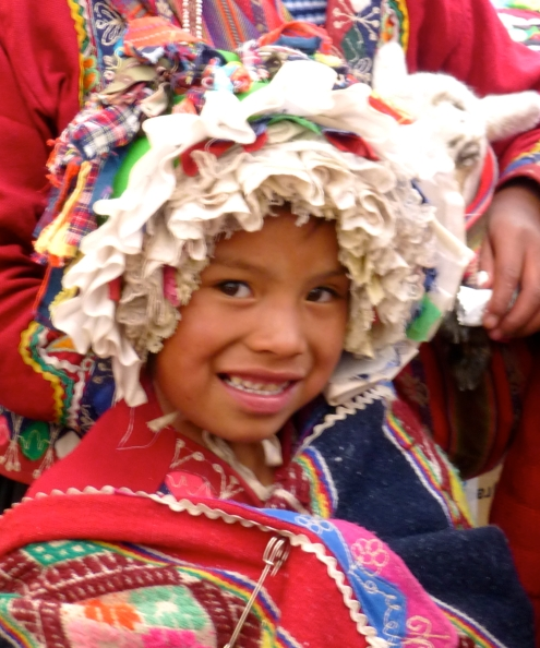 Girl at Pisaq, Peru