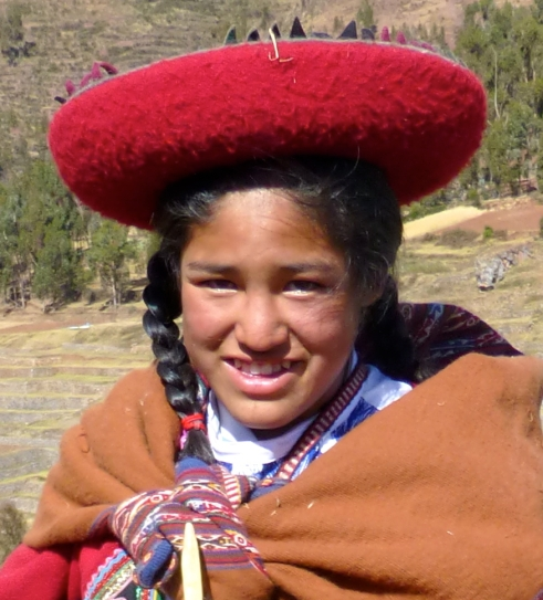Girl at Chinchera, Peru