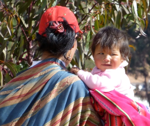 Baby at Chinchera, Peru